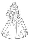 Målarbild prinsessa pÃ¥ fest