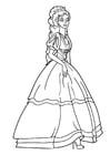 Målarbild prinsessa