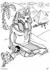 Målarbild Pyramider i Egypten