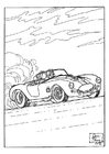 Målarbild racerbil