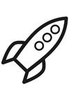 Målarbild raket