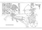 Målarbild Ramses II - striden vid Kadesh