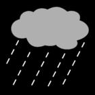 Målarbild regn