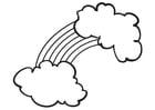 Målarbild regnbÃ¥ge