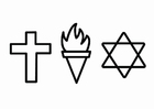 Målarbild religion - etik