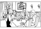Målarbild restaurang