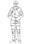 Målarbild riddare i rustning