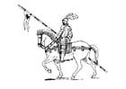 Målarbild riddare till häst