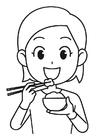 Målarbild ris