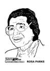 Målarbild Rosa Parks
