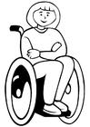 Målarbild rullstol