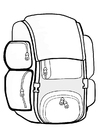 Målarbild ryggsäck