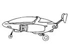 Målarbild rymdskepp