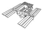 Målarbild rymdstation