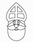 Målarbild S:t Nikolaus ansikte