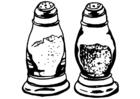Målarbild salt och peppar