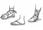 Målarbild sandaler