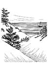 Målarbild sanddyner