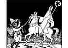Målarbild Sankt Nikolas med Svarte Petter