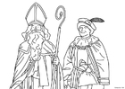 Målarbild Sankt Nikolas och Svarte Petter