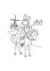 Målarbild Sankt Nikolas pÃ¥ sin häst