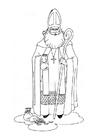 Målarbild Sankt Nikolas