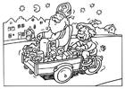 Målarbild Sankt Nikolaus och Svarte Petter