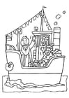 Målarbild Sankt Nikolaus pÃ¥ sitt skepp