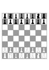 Målarbild schackbräde