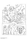 Målarbild schimpans