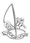 Målarbild segel
