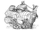 Målarbild segelbÃ¥t