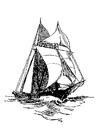 Målarbild segelfartyg