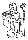 Målarbild Sinterklaas