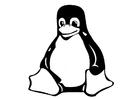 Målarbild sittande pingvin