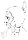 Målarbild Sitting Bull
