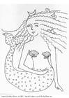 Målarbild Sjöjungfru