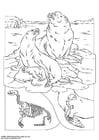 Målarbild sjölejon