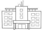 Målarbild sjukhus