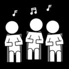 Målarbild sjunga