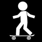 Målarbild skateboard