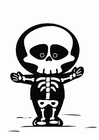Målarbild skelett