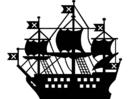 Målarbild skepp