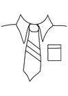 Målarbild skjorta med slips