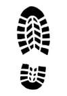 Målarbild skoavtryck