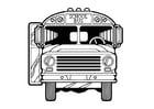 Målarbild skolbuss
