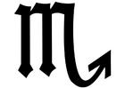 Målarbild Skorpionen