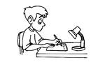 Målarbild skriva - hemläxa