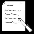 Målarbild skriva