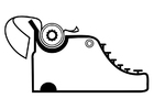 Målarbild skrivmaskin